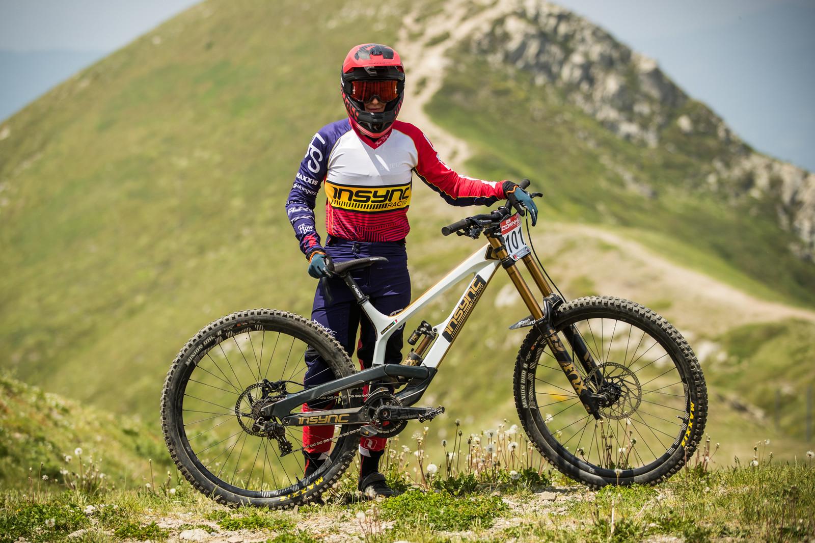 Insync teamrider and fastest qualifier, Veronika Widmann - 25 Downhill Bikes - iXS DH Cup #3 - Abetone - Mountain Biking Pictures - Vital MTB