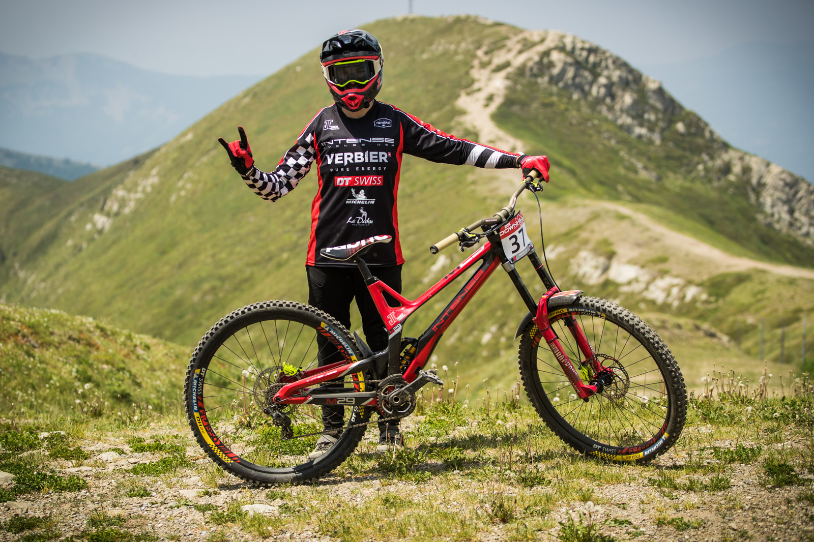 Loris Michellod of the JC Racing team and his Intense M29 - 25 Downhill Bikes - iXS DH Cup #3 - Abetone - Mountain Biking Pictures - Vital MTB