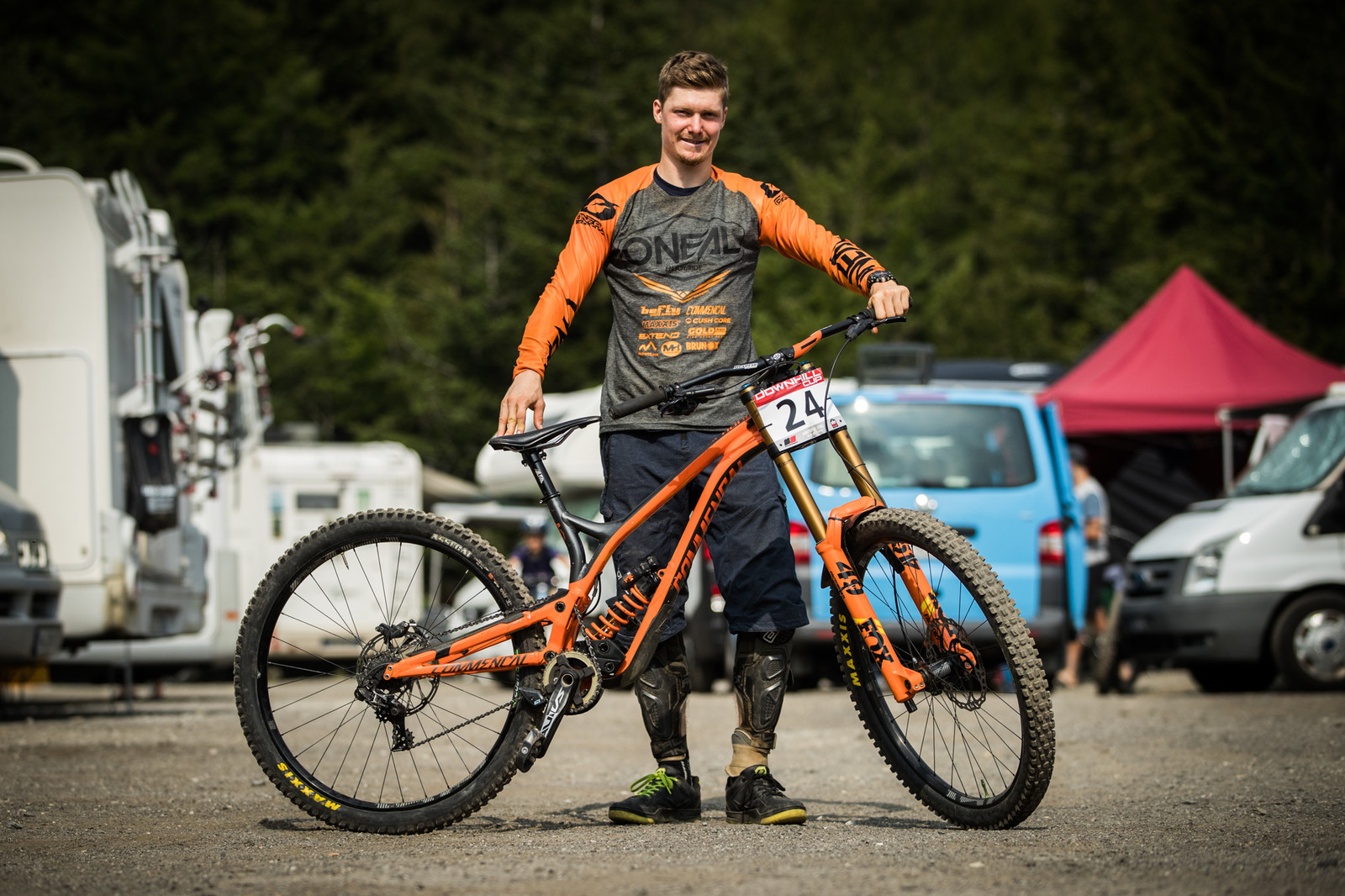 Felix Bauer with his Commencal Supreme DH 29 - 25 Downhill Bikes - iXS DH Cup #3 - Abetone - Mountain Biking Pictures - Vital MTB