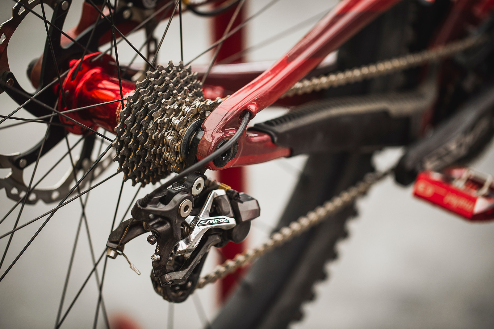 10-speed cassette on Luca Shaw's V10 - PIT BITS - ANDORRA WORLD CUP DOWNHILL - Mountain Biking Pictures - Vital MTB