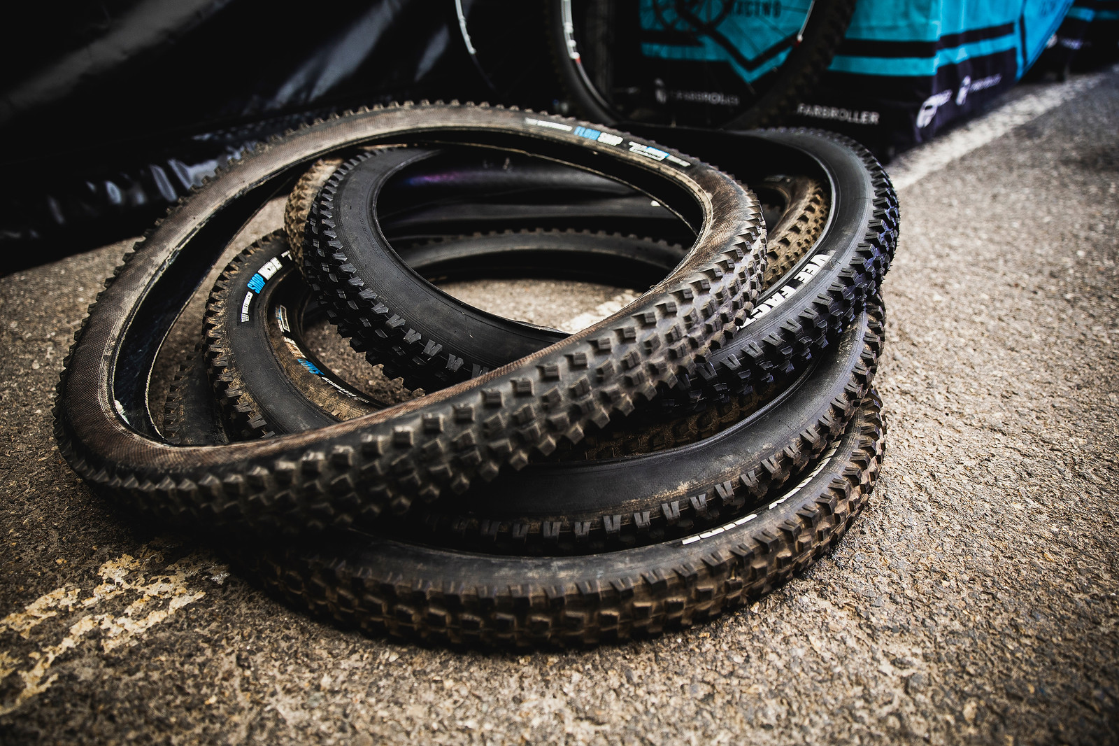 Vee Snap WCE Tires at Propain - PIT BITS - 2019 Les Gets World Cup DH, France - Mountain Biking Pictures - Vital MTB
