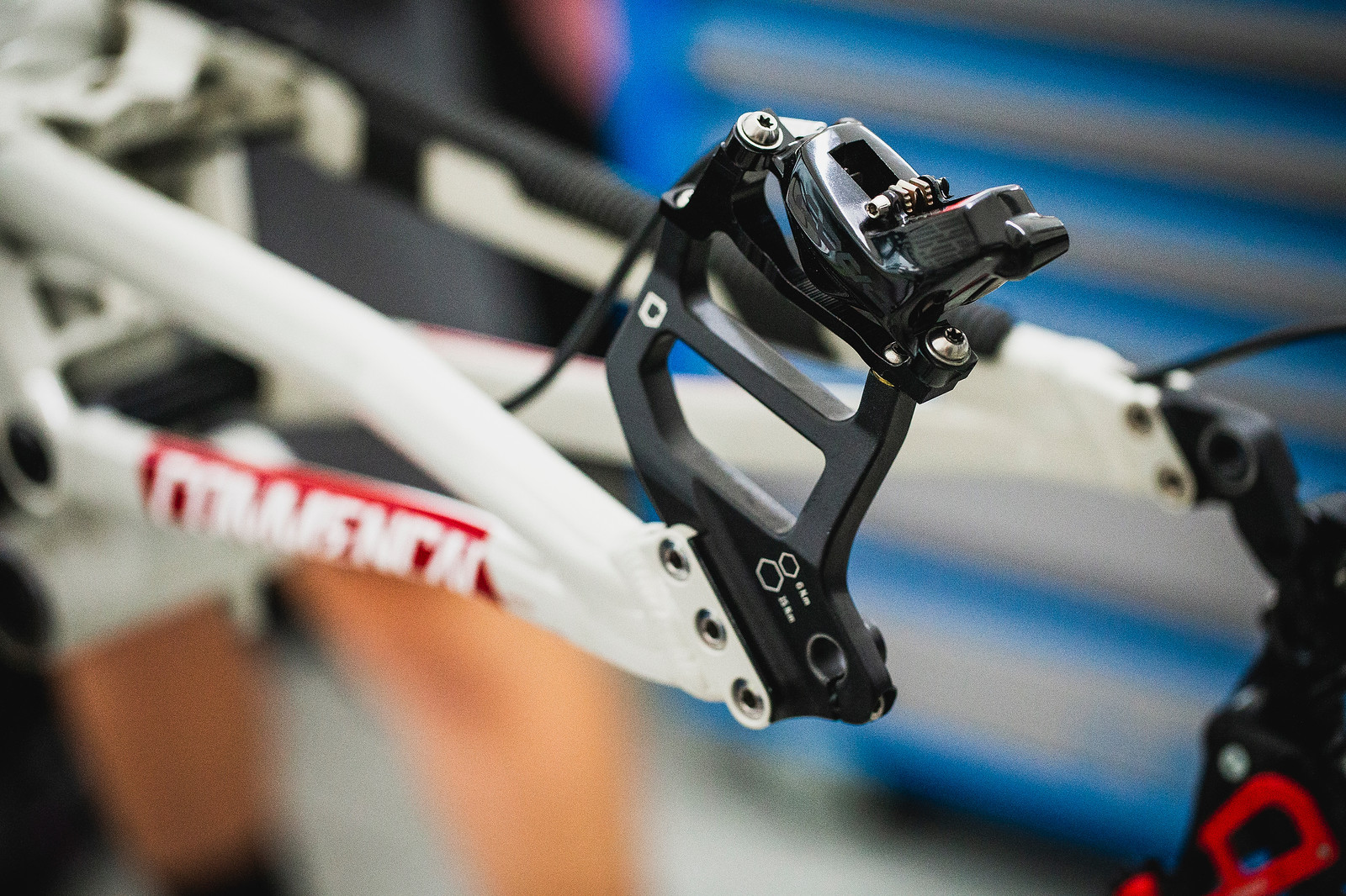 Massive Rotor Adaptors for Commencal - PIT BITS - 2019 Val di Sole World Cup Downhill Bike Tech - Mountain Biking Pictures - Vital MTB