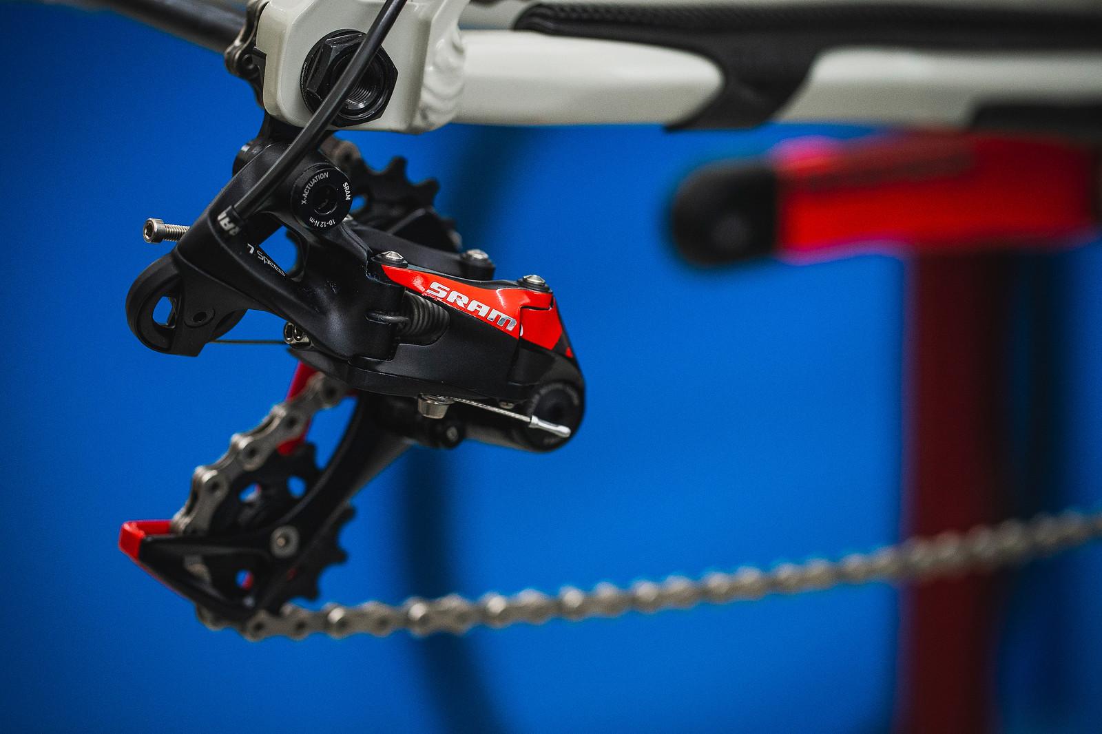 SRAM X01 DH 7-speed Rear Derailleur - PIT BITS - 2019 Val di Sole World Cup Downhill Bike Tech - Mountain Biking Pictures - Vital MTB