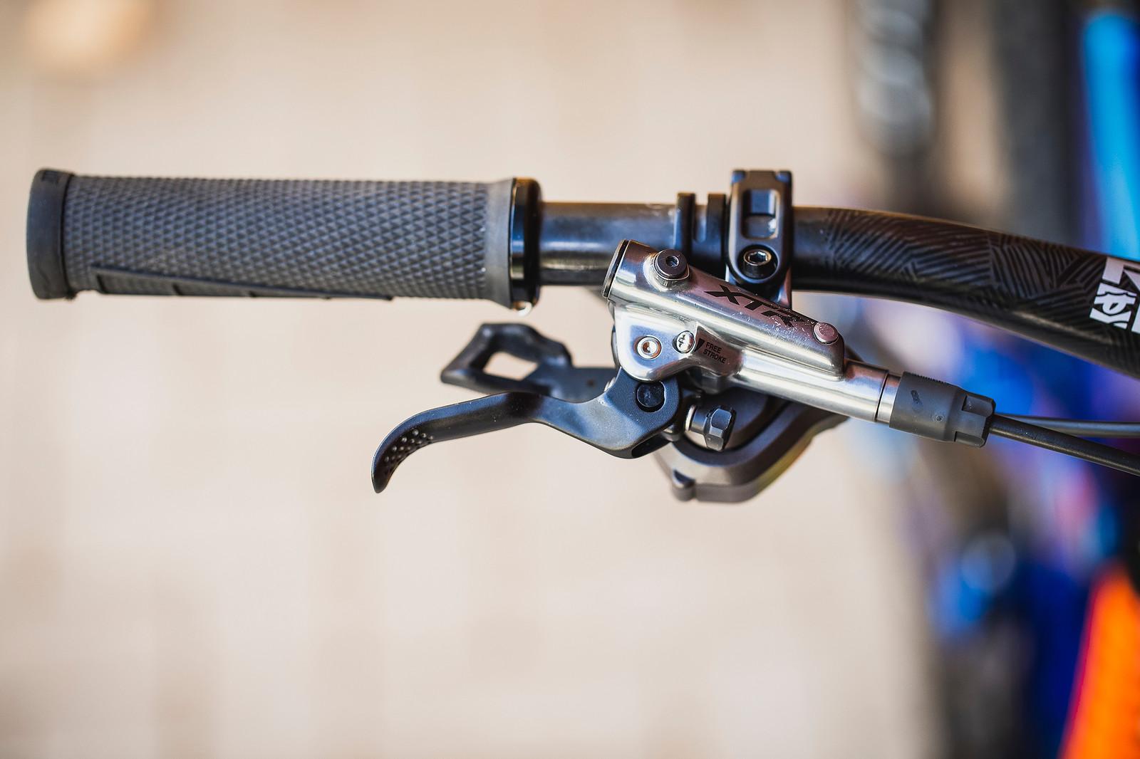 Shimano XTR Brake Levers - Pro Bike Check - George Brannigan's GT Fury - Mountain Biking Pictures - Vital MTB
