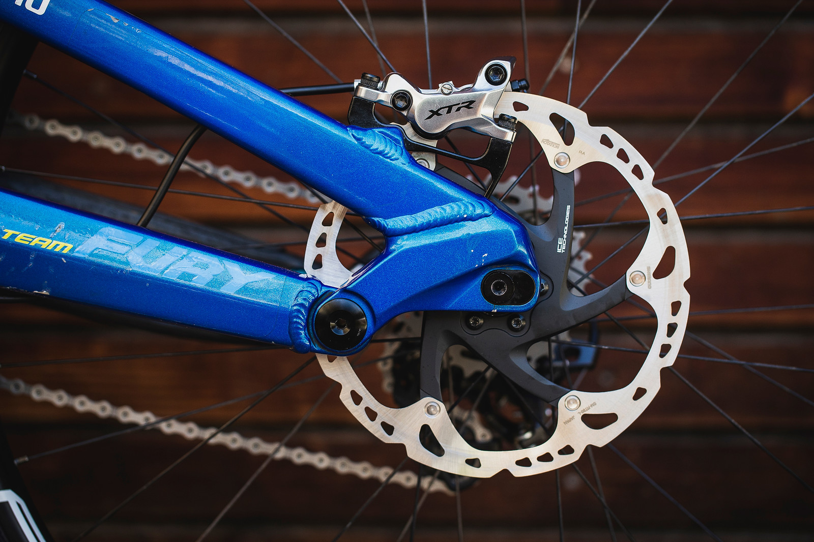 Shimano XTR Brakes / Ice Tech Rotors - Pro Bike Check - George Brannigan's GT Fury - Mountain Biking Pictures - Vital MTB