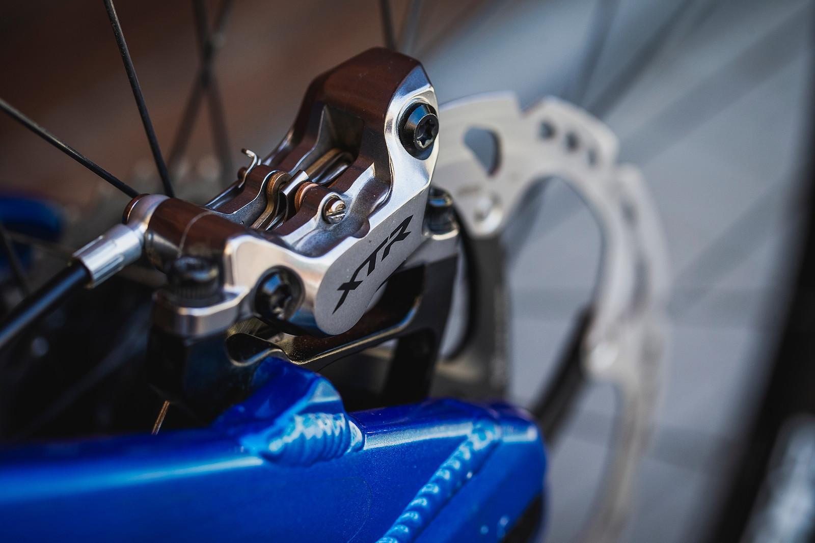 Shimano XTR Brakes - Pro Bike Check - George Brannigan's GT Fury - Mountain Biking Pictures - Vital MTB