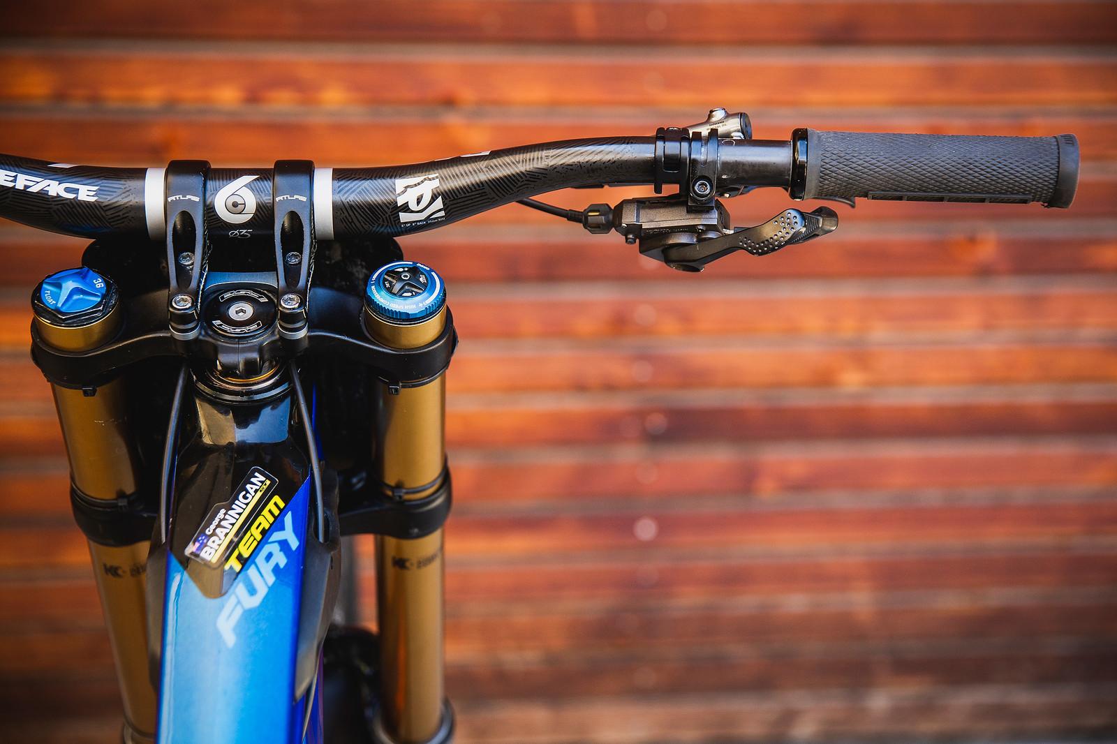 Race Face Cockpit - Pro Bike Check - George Brannigan's GT Fury - Mountain Biking Pictures - Vital MTB