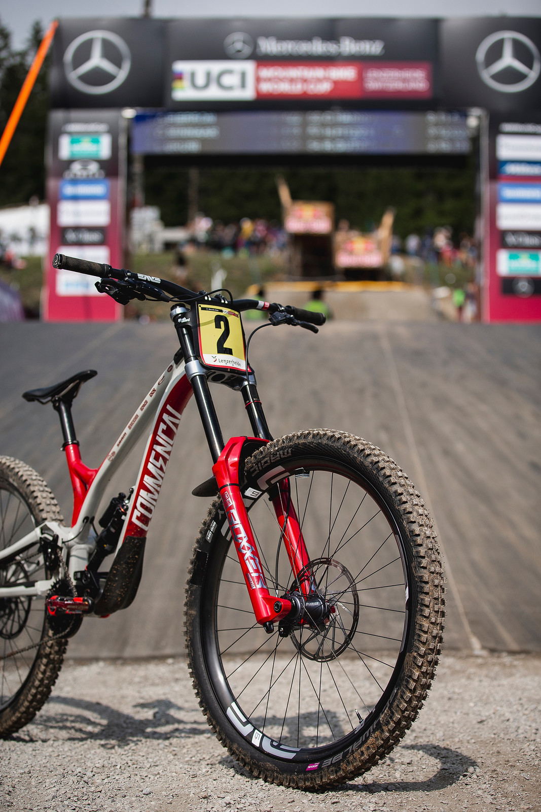 Front End - WINNING BIKE - Amaury Pierron's Commencal Supreme DH - Mountain Biking Pictures - Vital MTB