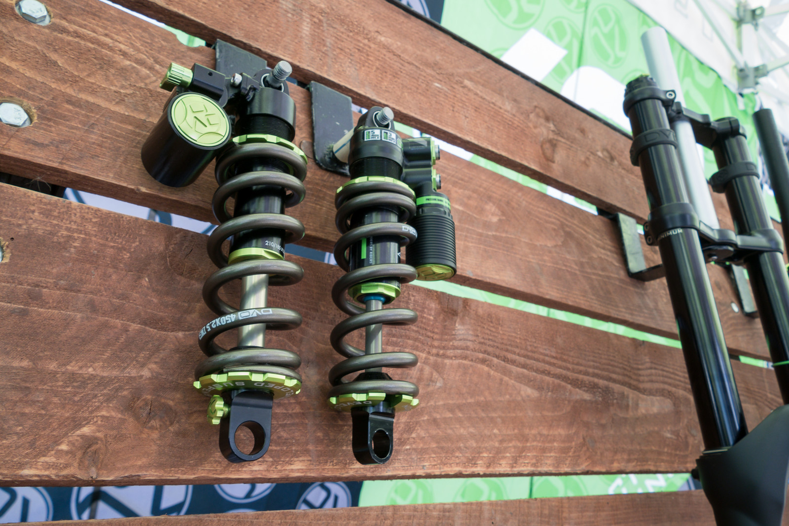 Prototype DVO Jade X and Jade Twin Coil Shocks - PIT BITS - 2019 Crankworx Whistler Bikes and Tech - Mountain Biking Pictures - Vital MTB