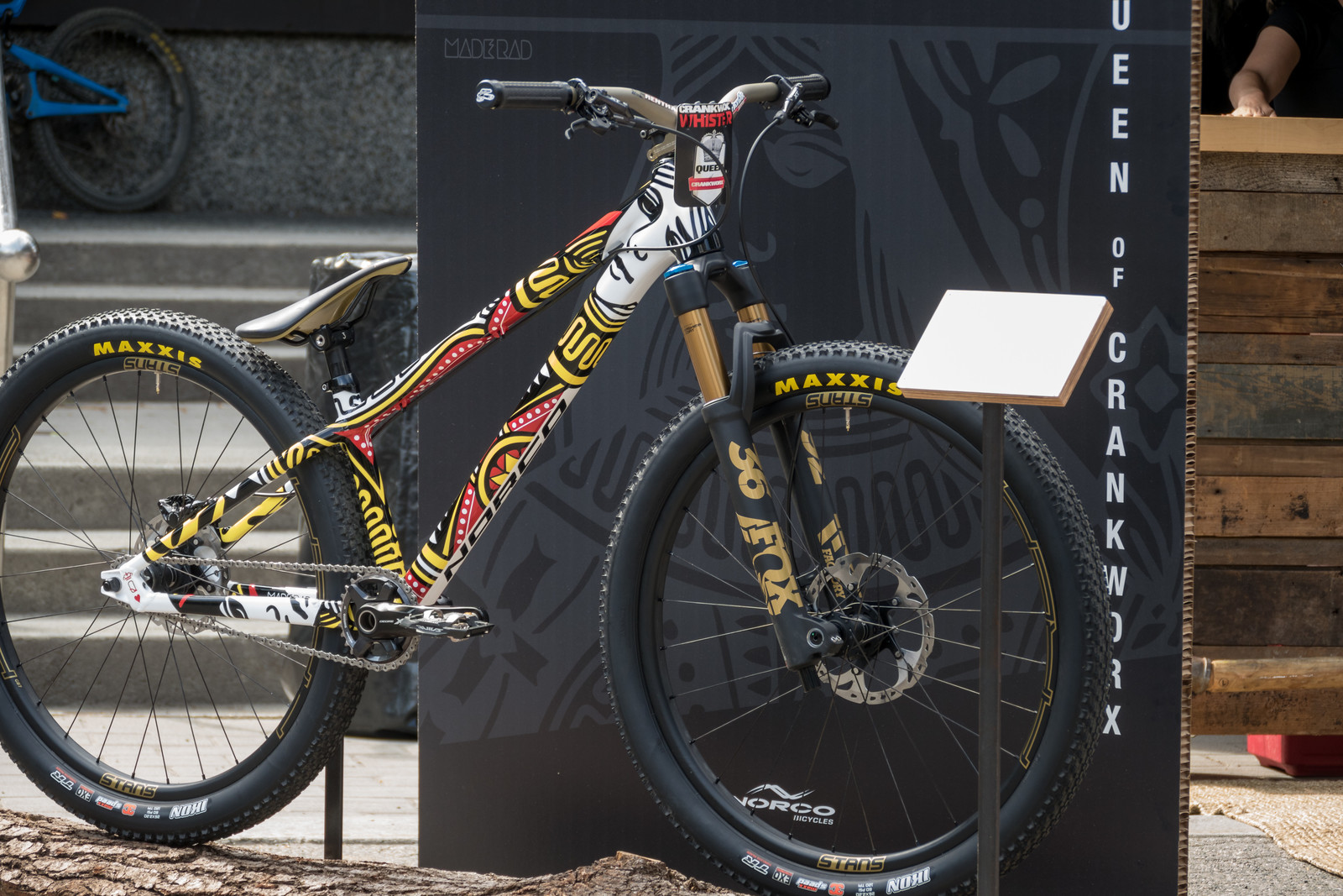 Jill Kintner's Queen of Hearts Norco Rampage - PIT BITS - 2019 Crankworx Whistler Bikes and Tech - Mountain Biking Pictures - Vital MTB