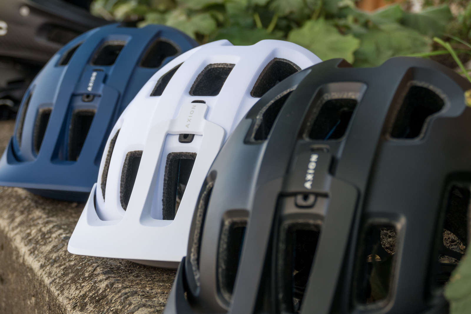POC Axion Helmet - PIT BITS - 2019 Crankworx Whistler Bikes and Tech - Mountain Biking Pictures - Vital MTB