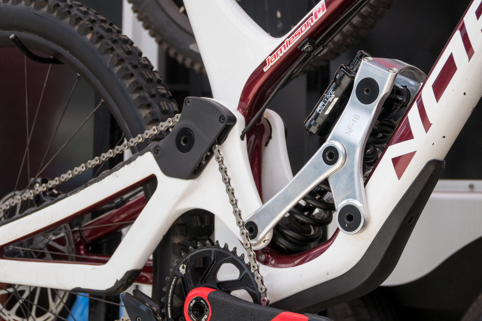 Prototype Norco Aurum Suspension Linkage - PIT BITS - 2019 Crankworx Whistler Bikes and Tech - Mountain Biking Pictures - Vital MTB