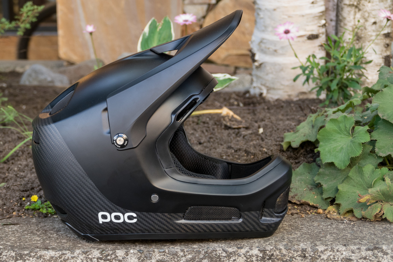 POC Coron Air Carbon SPIN Helmet - All Black for 2020 - PIT BITS - 2019 Crankworx Whistler Bikes and Tech - Mountain Biking Pictures - Vital MTB