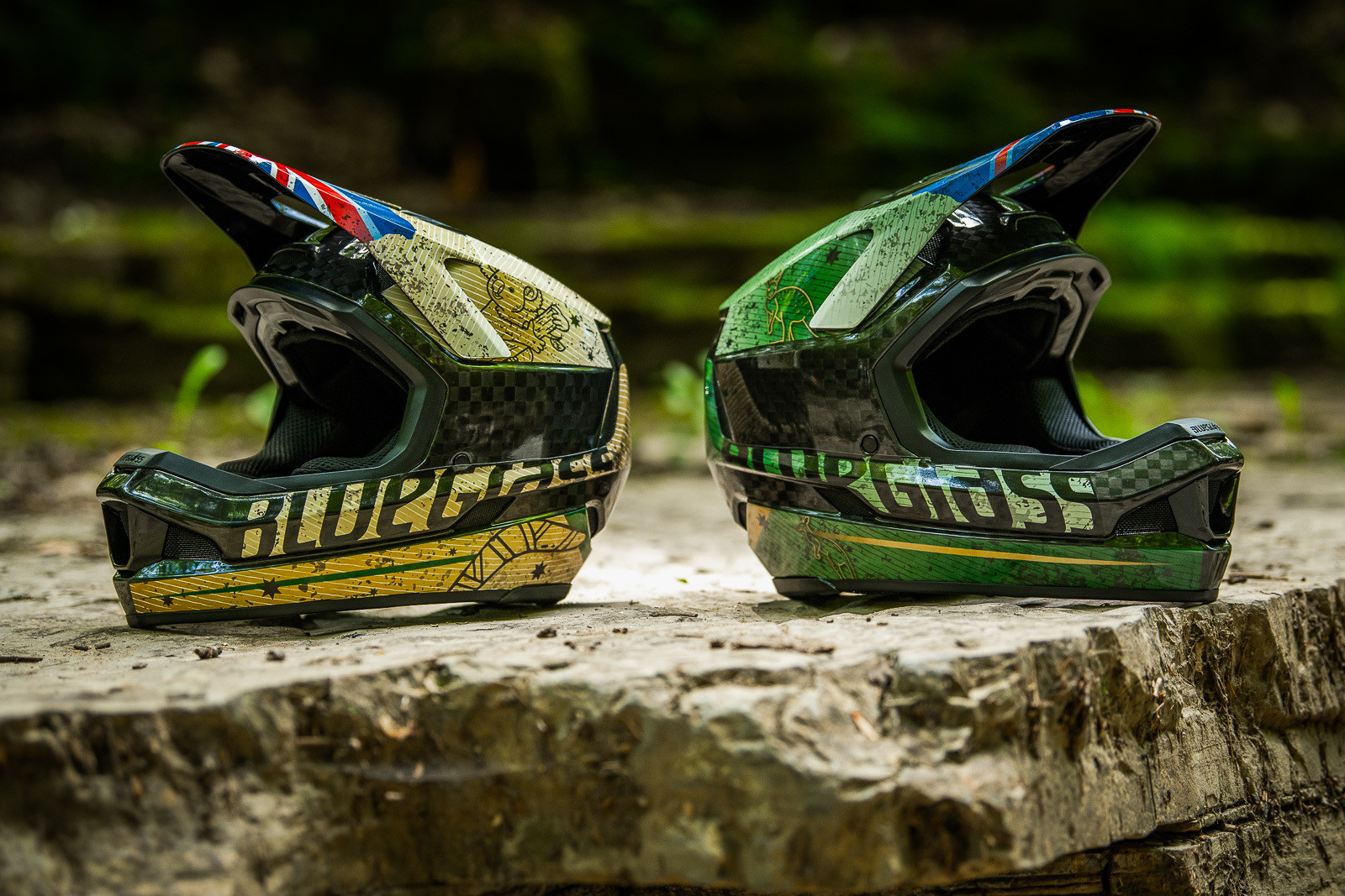 Tracey and Mick Hannah's World Champs Bluegrass Helmets - Tracey and Mick Hannah's World Champs Polygon DH Race Bikes - Mountain Biking Pictures - Vital MTB