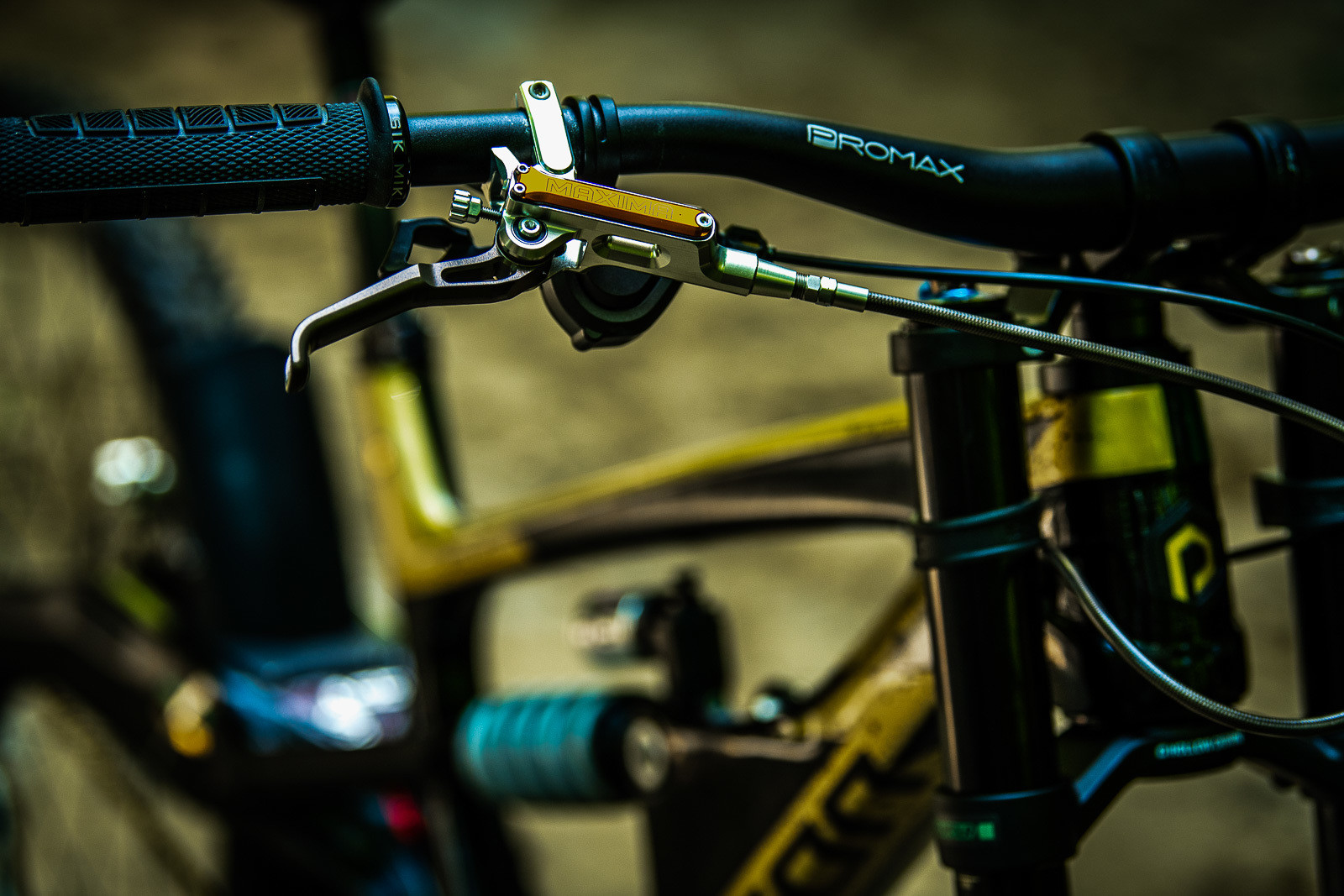 Trickstuff Maxima Brakes - Tracey and Mick Hannah's World Champs Polygon DH Race Bikes - Mountain Biking Pictures - Vital MTB