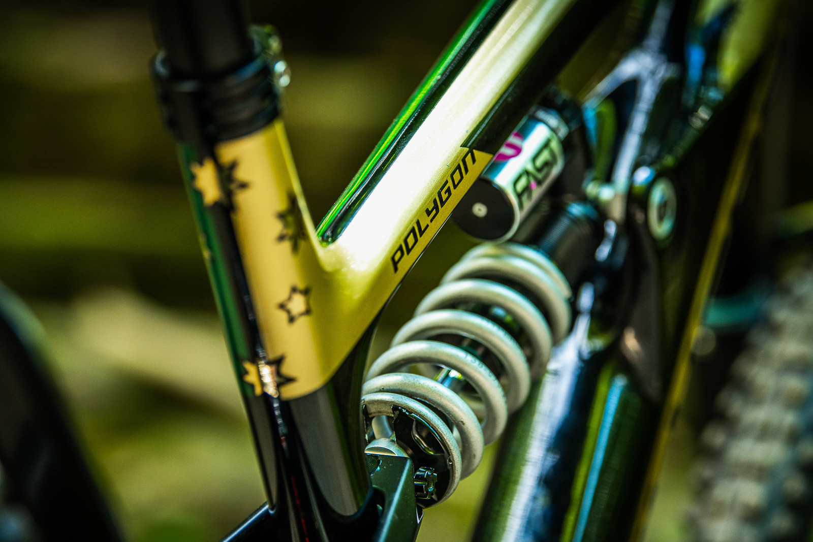 Aussie Theme - Tracey and Mick Hannah's World Champs Polygon DH Race Bikes - Mountain Biking Pictures - Vital MTB