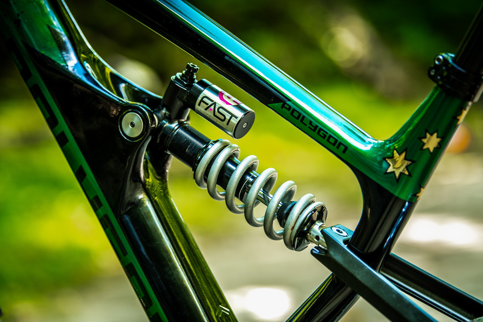 FAST Shock - Tracey and Mick Hannah's World Champs Polygon DH Race Bikes - Mountain Biking Pictures - Vital MTB