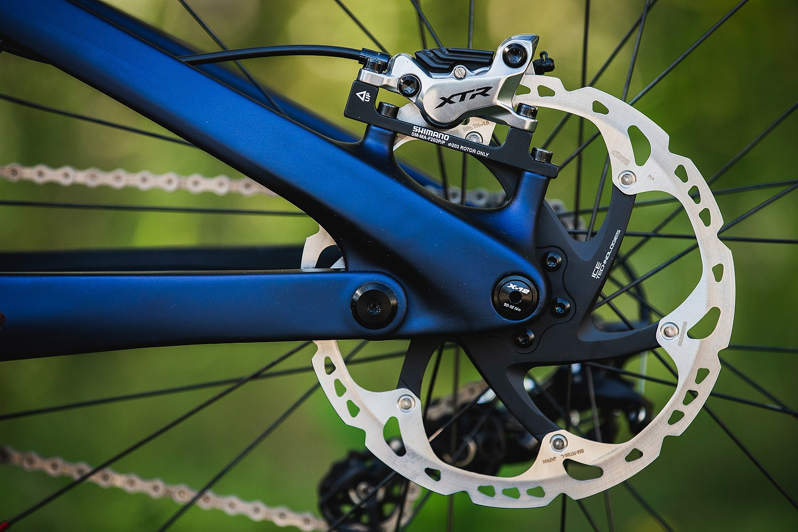 Shimano XTR Brakes - Tahnee Seagrave's World Championships Transition TR11 - Mountain Biking Pictures - Vital MTB