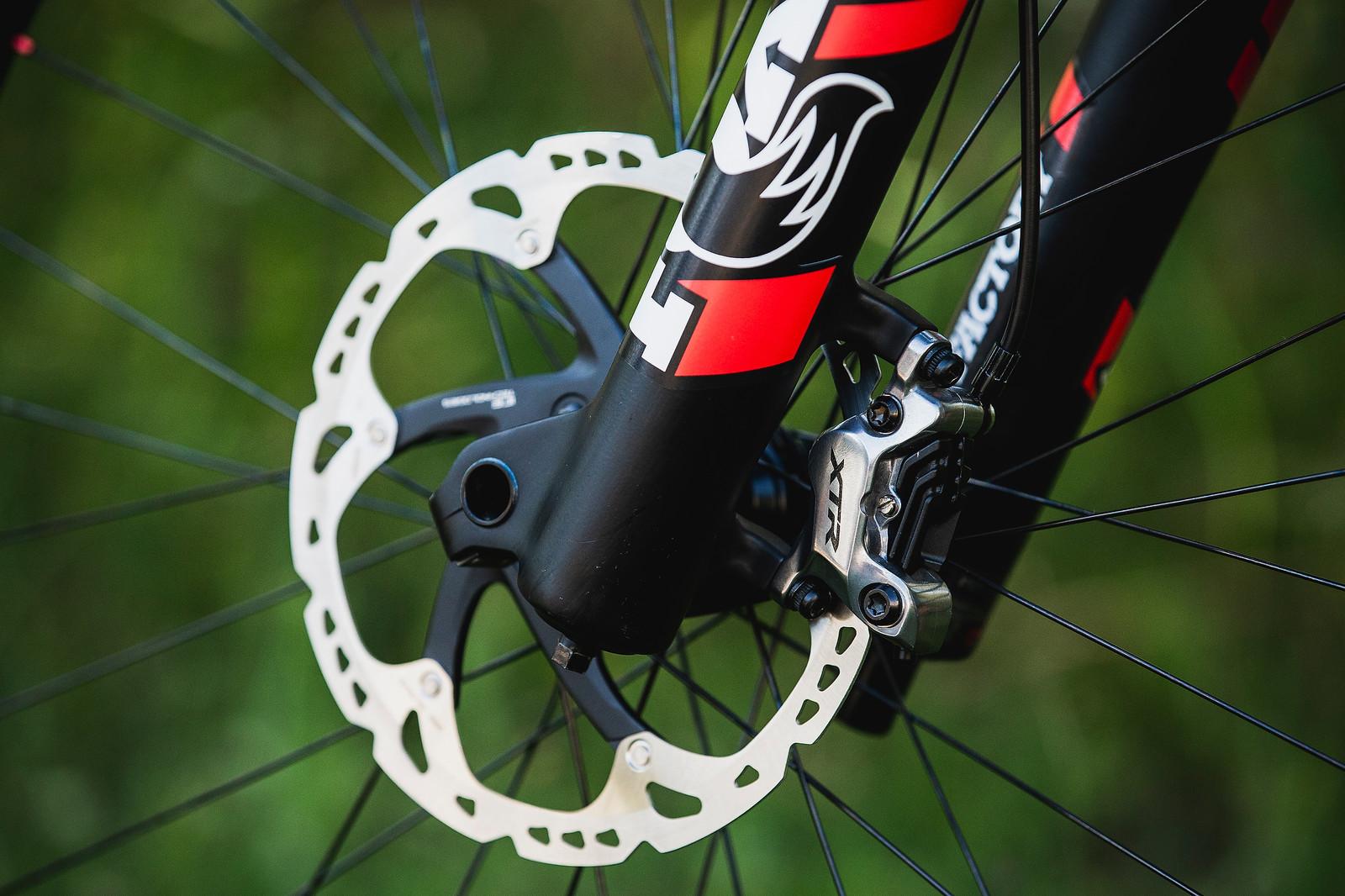 Shimano XTR Brakes - Tahnee Seagrave's World Championships Transition TR11 - Mountain Biking Pictures - Vital MTB