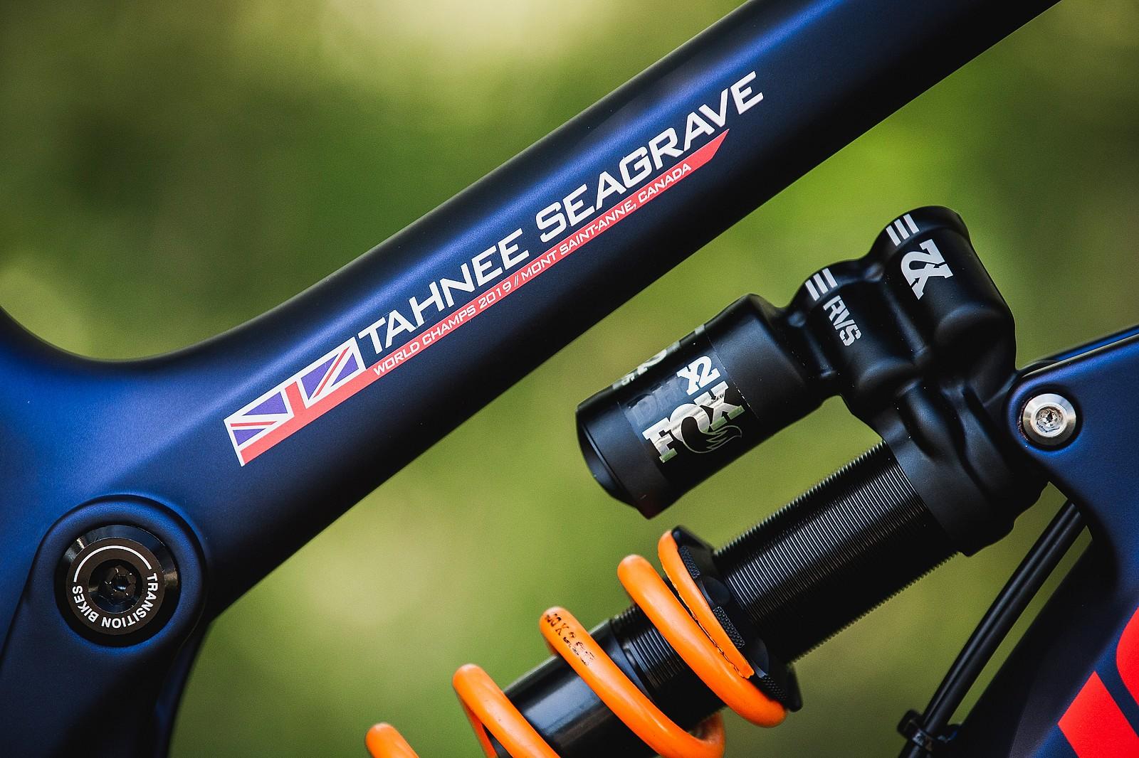 Sticker Satisfaction - Tahnee Seagrave's World Championships Transition TR11 - Mountain Biking Pictures - Vital MTB