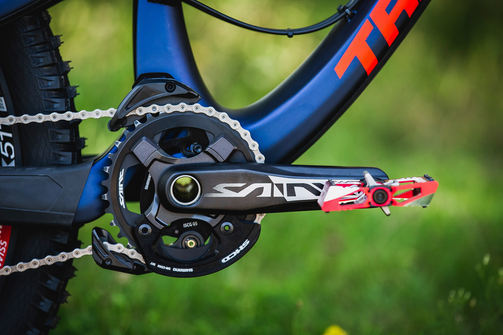 Shimano Saint Cranks and Chainguide, 36t Ring - Tahnee Seagrave's World Championships Transition TR11 - Mountain Biking Pictures - Vital MTB