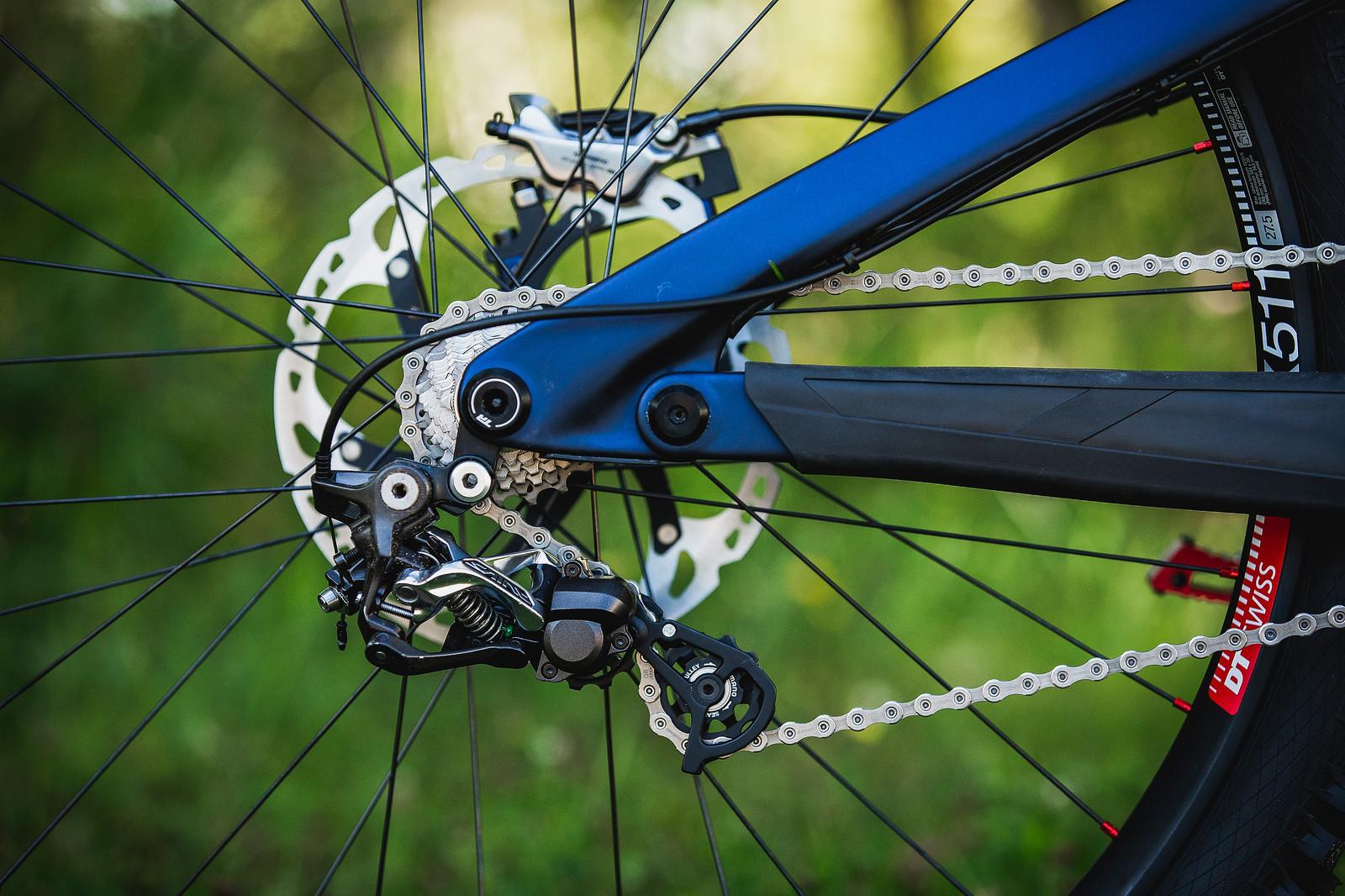 Shimano Saint Drivetrain - Tahnee Seagrave's World Championships Transition TR11 - Mountain Biking Pictures - Vital MTB