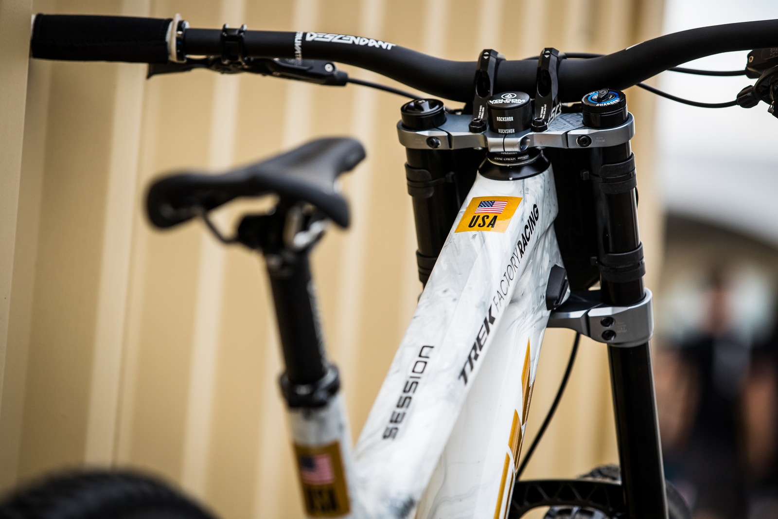 #USDH - Charlie Harrison's Trek Session World Champs Race Bike - Mountain Biking Pictures - Vital MTB