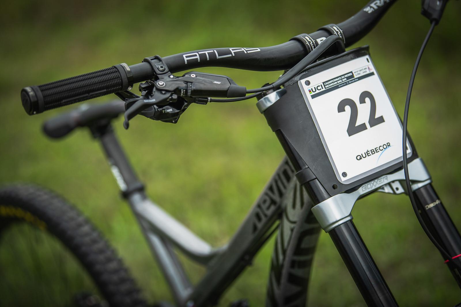Stealth Monochrome Look for Jure - Devinci Unior World Championships Downhill Race Bikes - Mountain Biking Pictures - Vital MTB