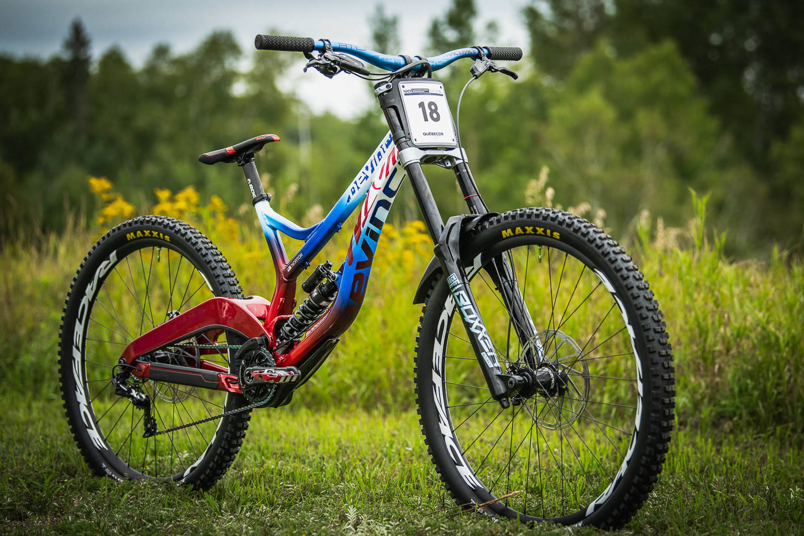 Dakotah Norton's Devinci Wilson for World Championships - Devinci Unior World Championships Downhill Race Bikes - Mountain Biking Pictures - Vital MTB
