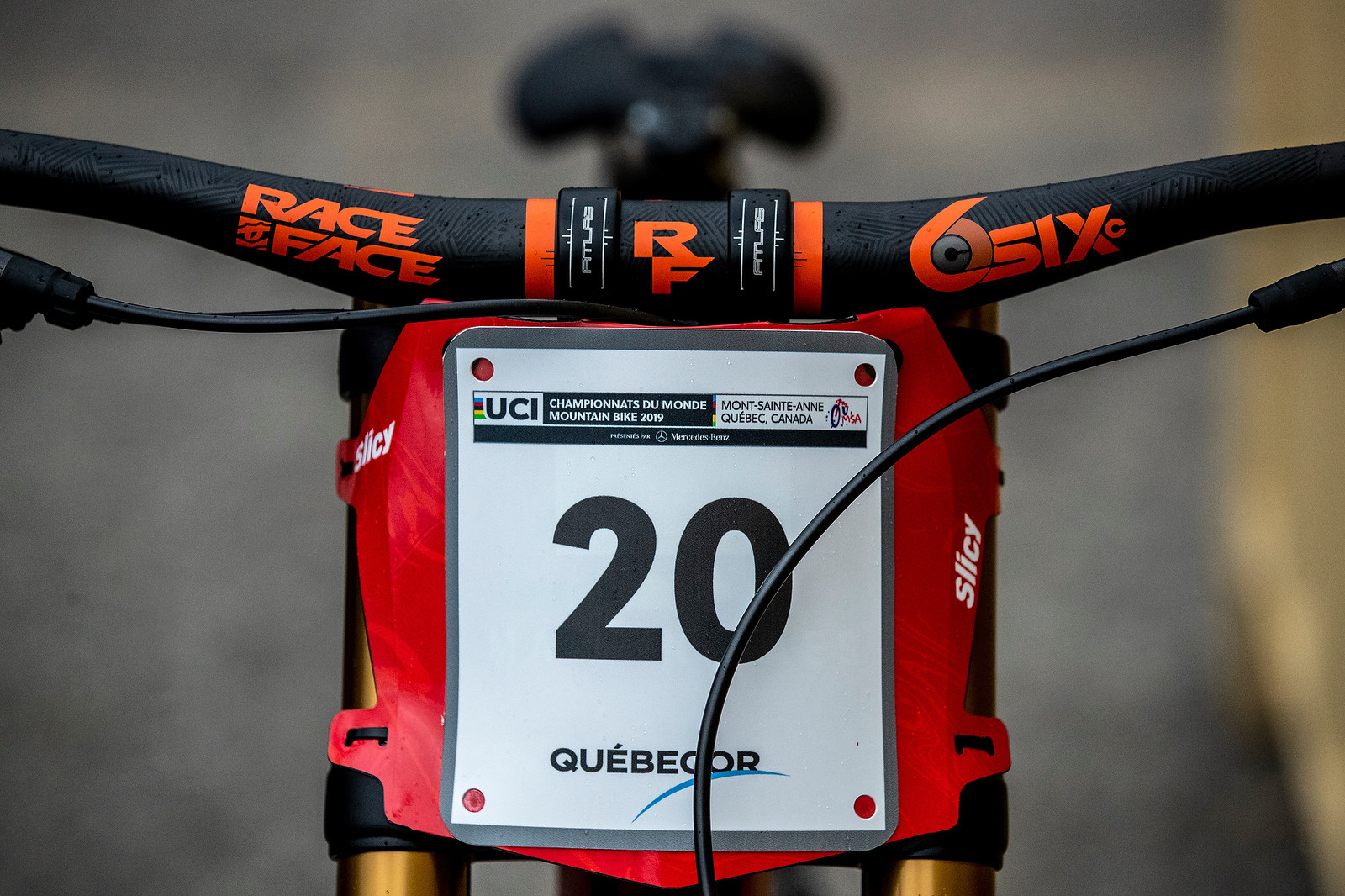 Number Plate - GT Bicycles World Championships DH Race Bikes - Mountain Biking Pictures - Vital MTB