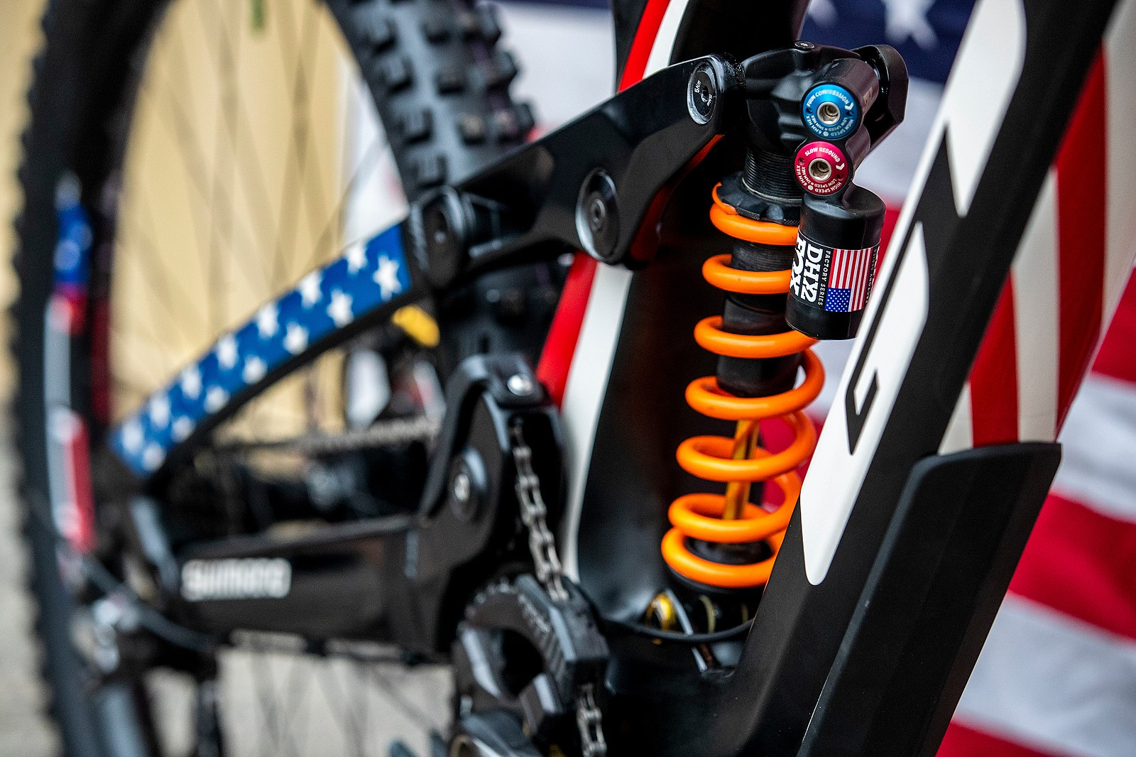 FOX Stickers - GT Bicycles World Championships DH Race Bikes - Mountain Biking Pictures - Vital MTB