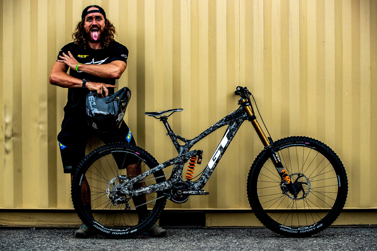 Wyn Masters with His GT Fury For World Championships - GT Bicycles World Championships DH Race Bikes - Mountain Biking Pictures - Vital MTB