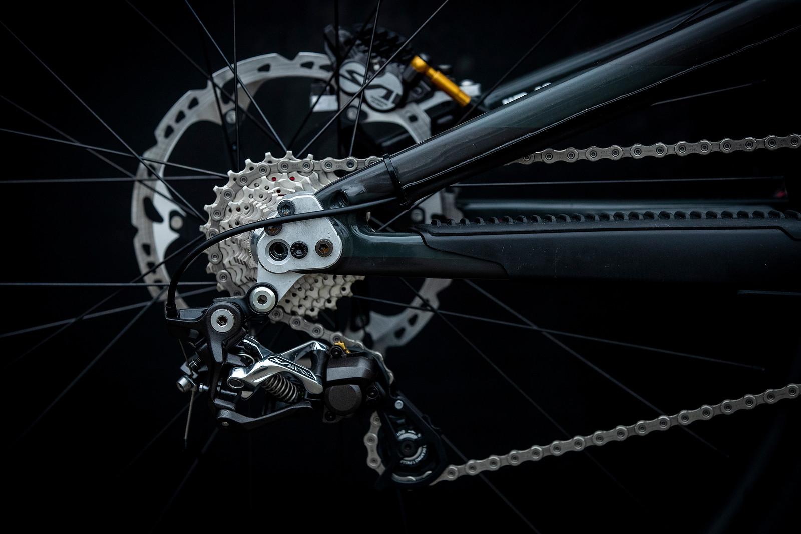 Greg's Prototype Long Rear End - Santa Cruz Syndicate 2019 World Championships Race Bikes - Mountain Biking Pictures - Vital MTB