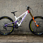 Pivot World Championships Downhill Bikes