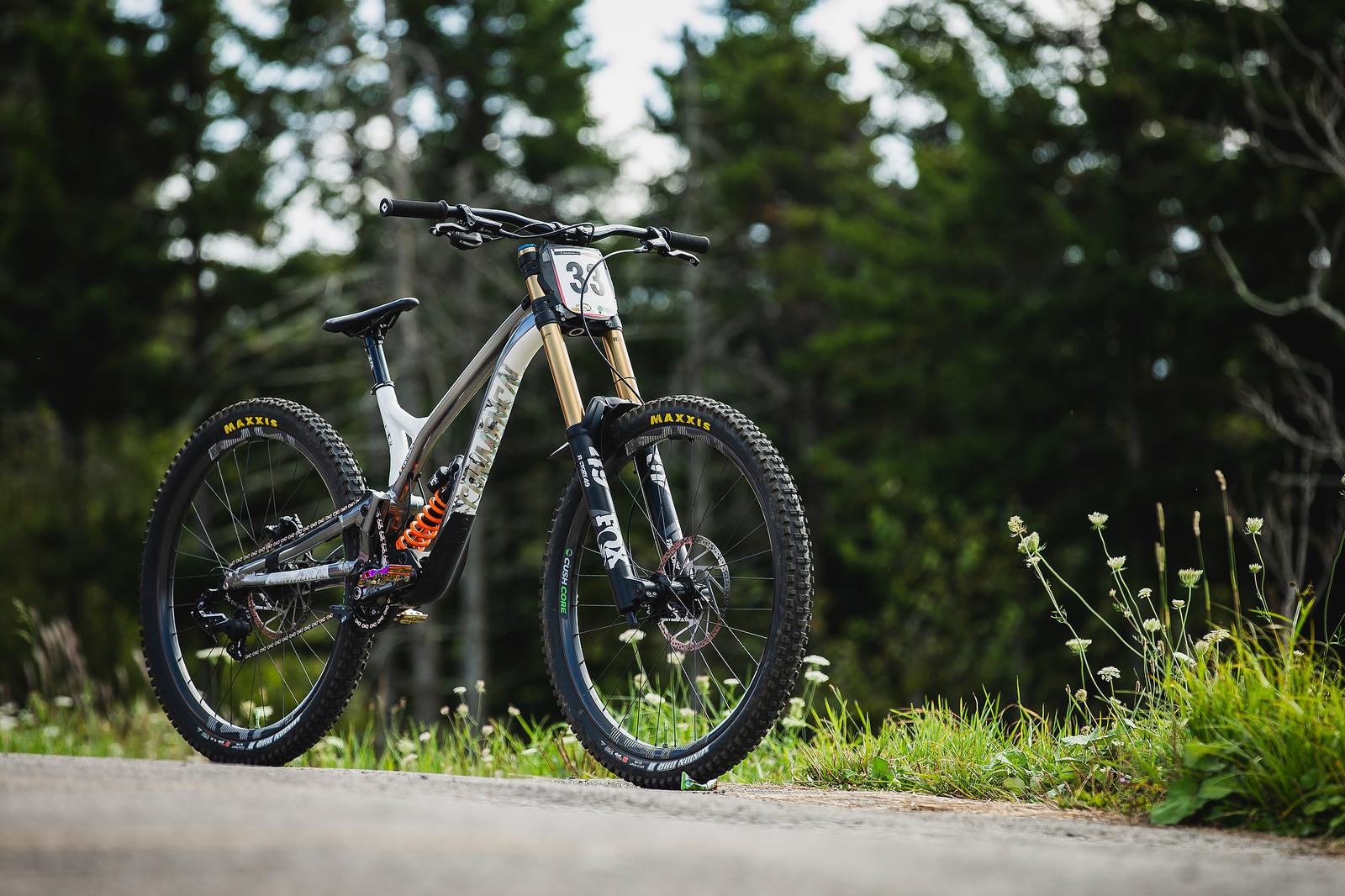 Thomas Estaque's Commencal Supreme - PIT BITS - 2019 World Cup Downhill, Snowshoe, West Virginia - Mountain Biking Pictures - Vital MTB
