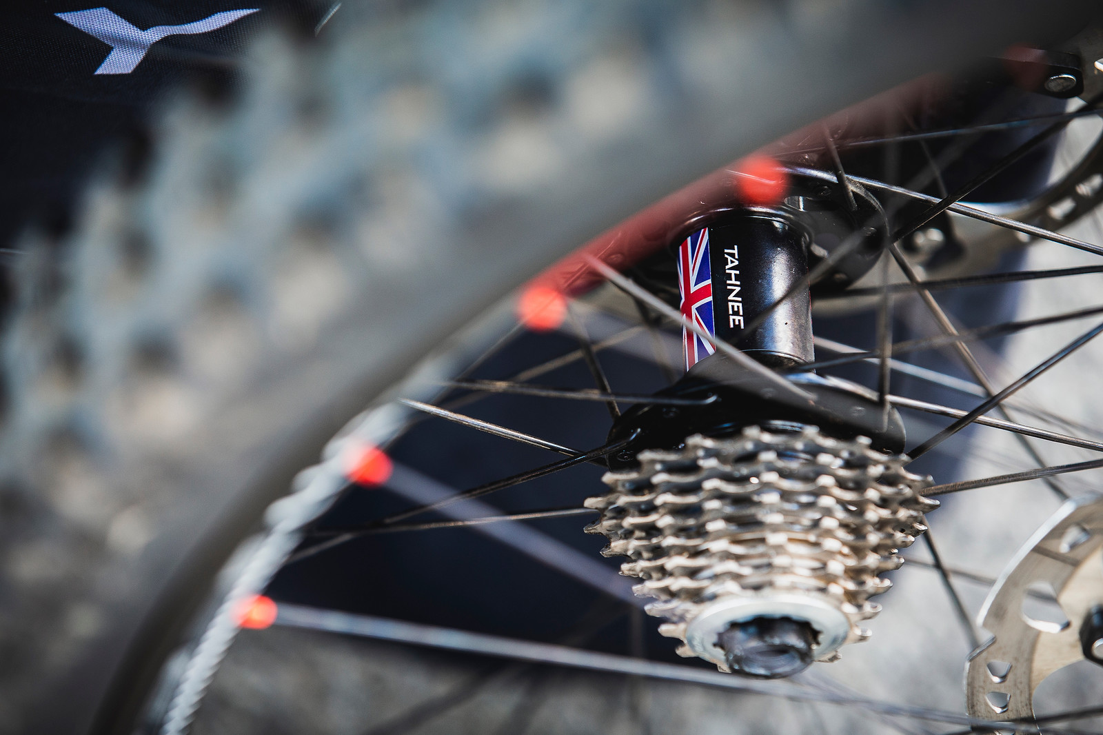 Tahnee's Rear Hub - PIT BITS - 2019 World Cup Downhill, Snowshoe, West Virginia - Mountain Biking Pictures - Vital MTB