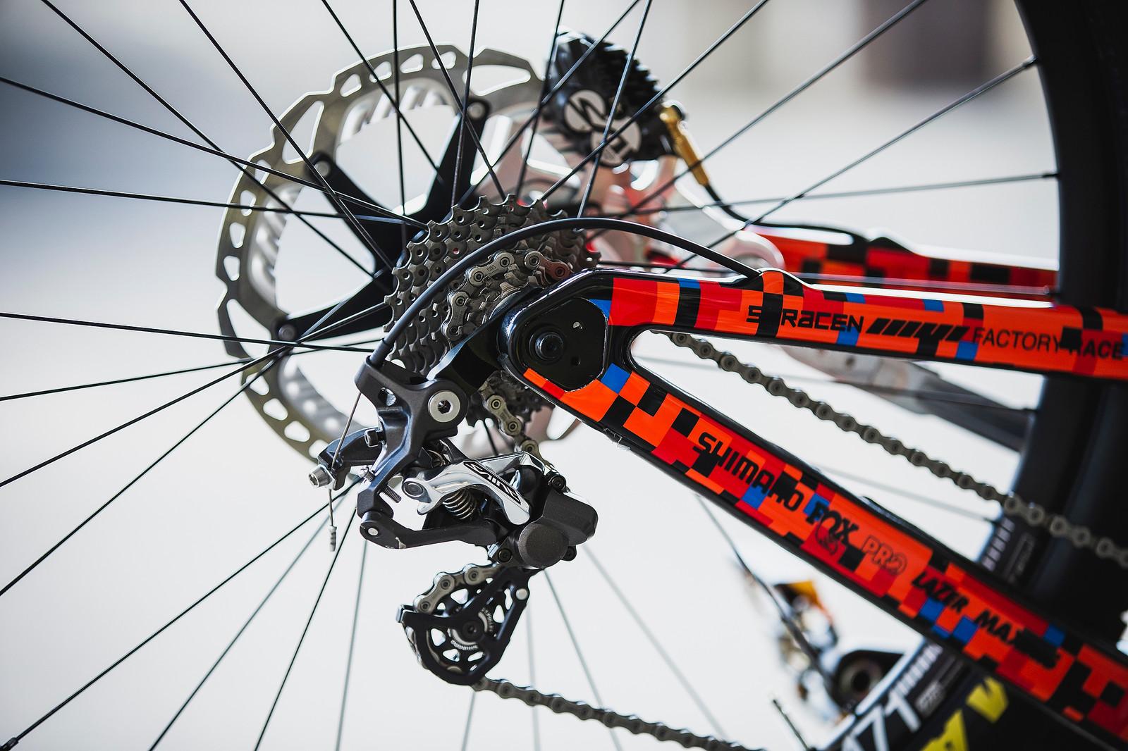 Danny Hart's Saracen Myst - PIT BITS - 2019 World Cup Downhill, Snowshoe, West Virginia - Mountain Biking Pictures - Vital MTB