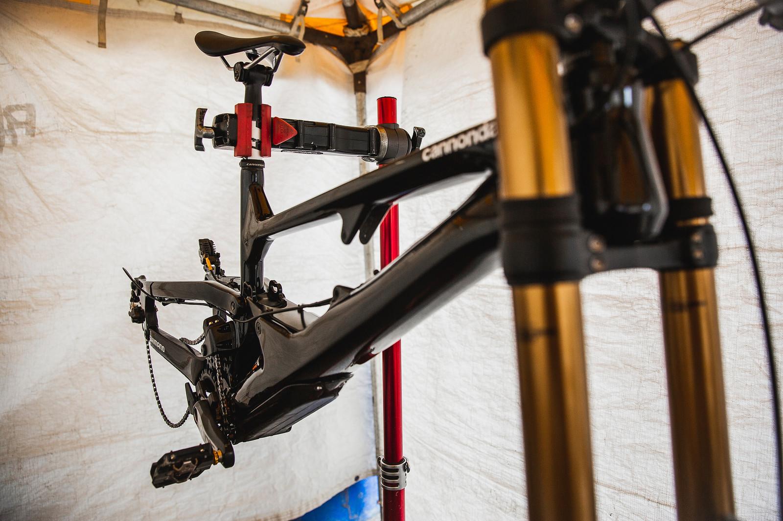 Cannondale's DH Bike Prototype - PIT BITS - 2019 World Cup Downhill, Snowshoe, West Virginia - Mountain Biking Pictures - Vital MTB