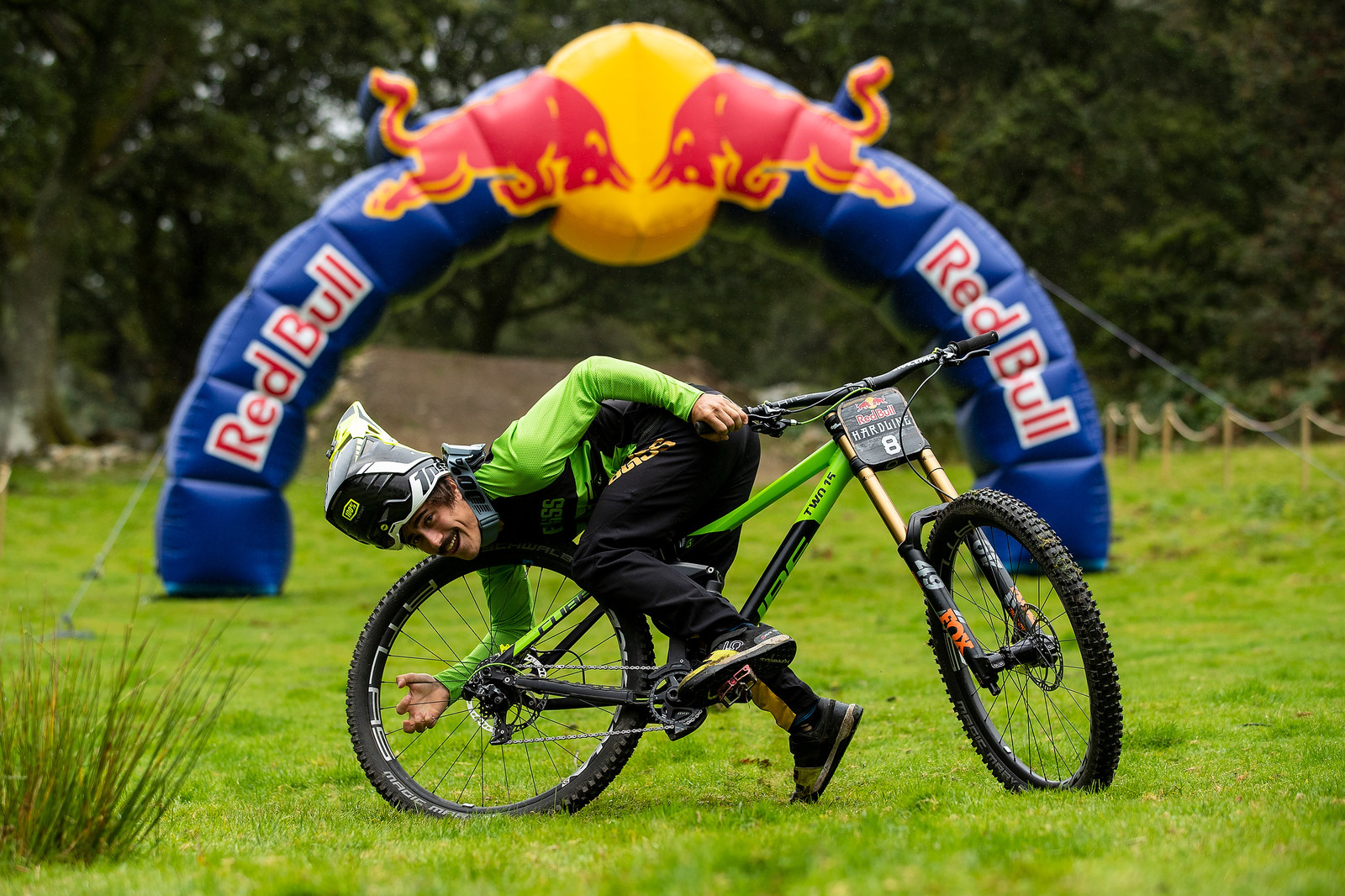 Gaetan Vige with his Cube Two15 - The Bikes of Red Bull Hardline - Mountain Biking Pictures - Vital MTB