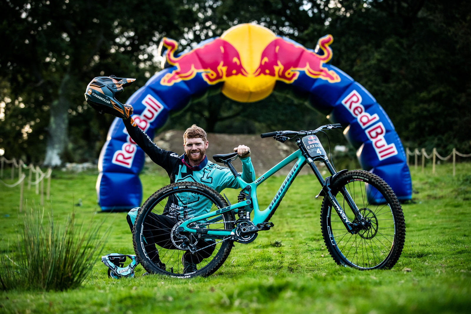 Joe Smith with his Propain Rage CF - The Bikes of Red Bull Hardline - Mountain Biking Pictures - Vital MTB
