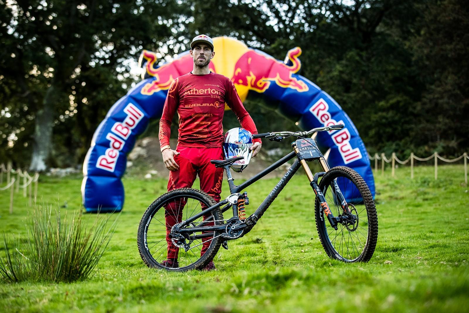 Gee Atherton with his Atherton Bikes Prototype DH - The Bikes of Red Bull Hardline - Mountain Biking Pictures - Vital MTB