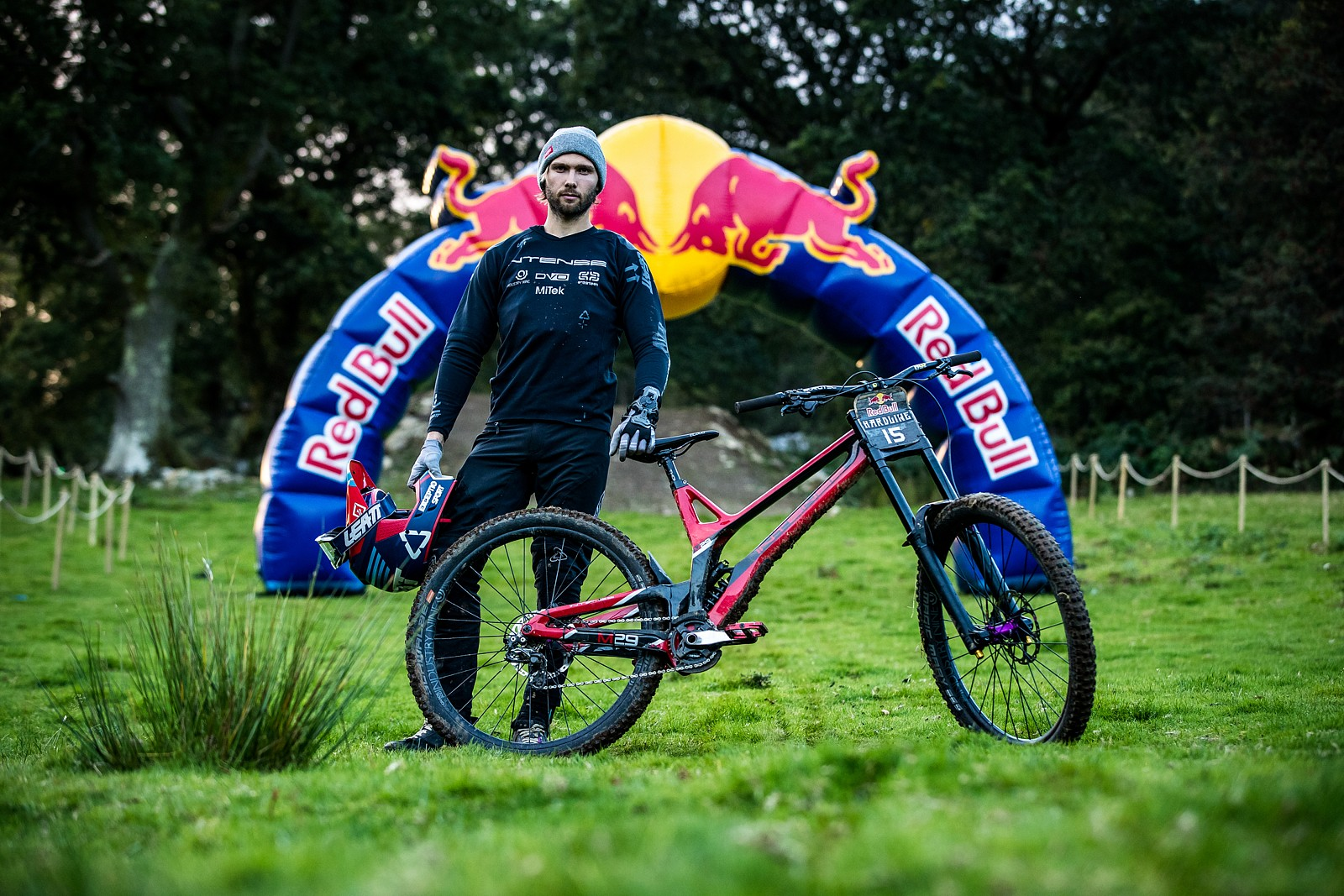 Oscar Harnstrom with his Intense M29 - The Bikes of Red Bull Hardline - Mountain Biking Pictures - Vital MTB