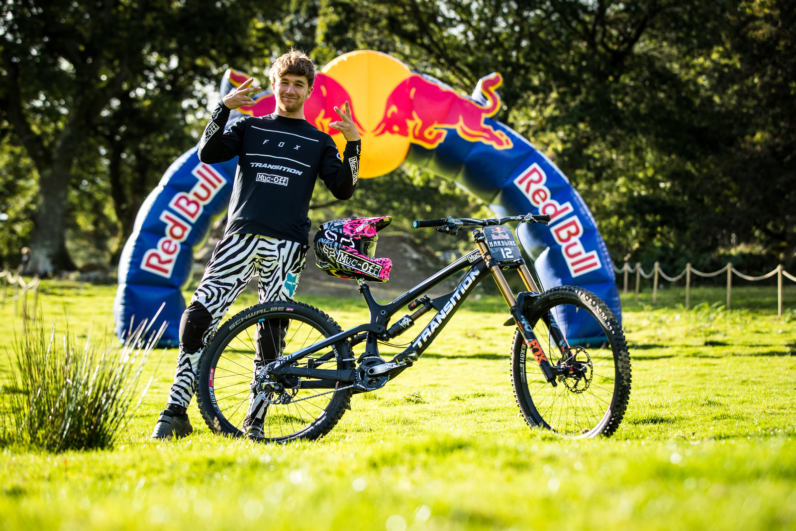 Kaos Seagrave with his Transition TR11 - The Bikes of Red Bull Hardline - Mountain Biking Pictures - Vital MTB