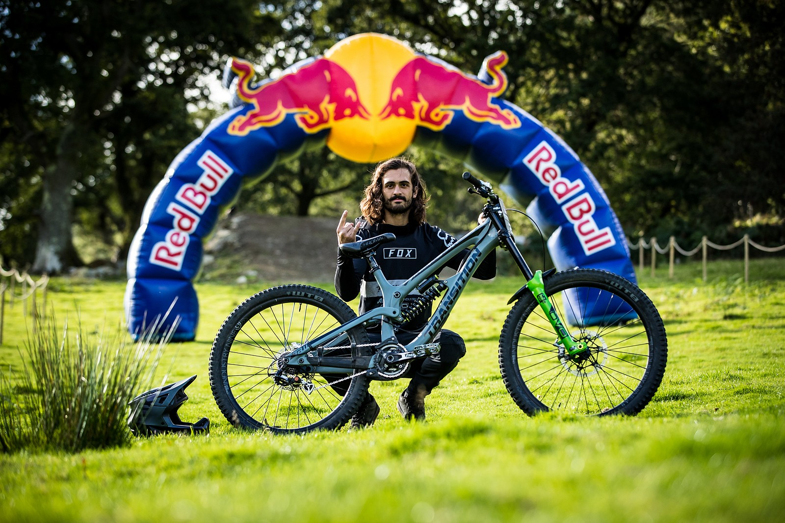 Juan Diego Salido with his Transtion TR11 - The Bikes of Red Bull Hardline - Mountain Biking Pictures - Vital MTB