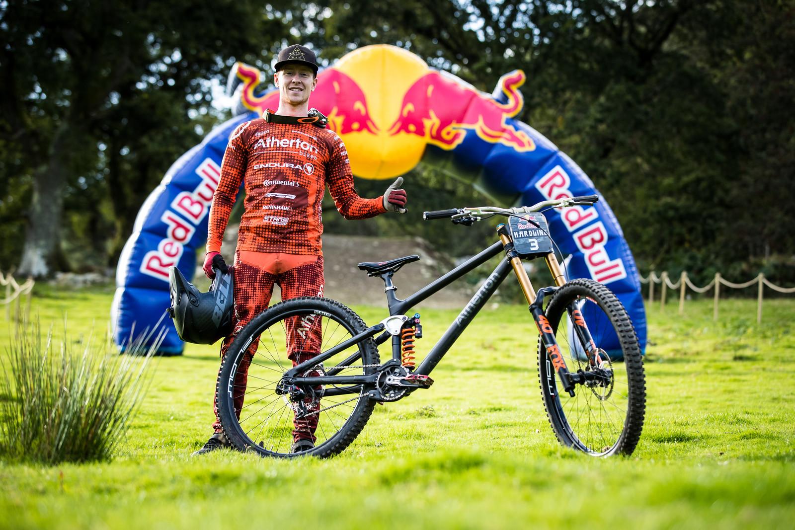Charlie Hatton with his Atherton Bikes DH Prototype - The Bikes of Red Bull Hardline - Mountain Biking Pictures - Vital MTB