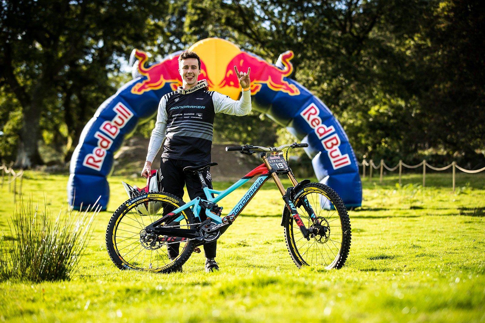 Thibaut Laly with his Mondraker Summum - The Bikes of Red Bull Hardline - Mountain Biking Pictures - Vital MTB