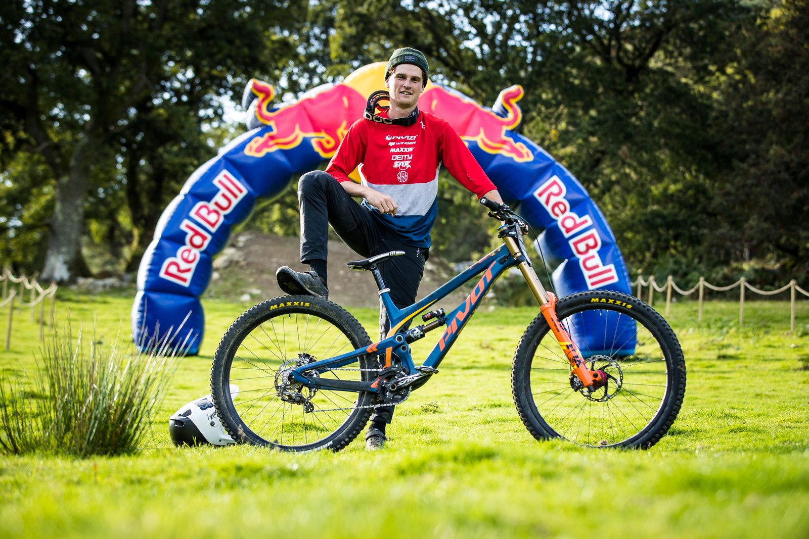 Cole Lucas with his Pivot Phoenix - The Bikes of Red Bull Hardline - Mountain Biking Pictures - Vital MTB