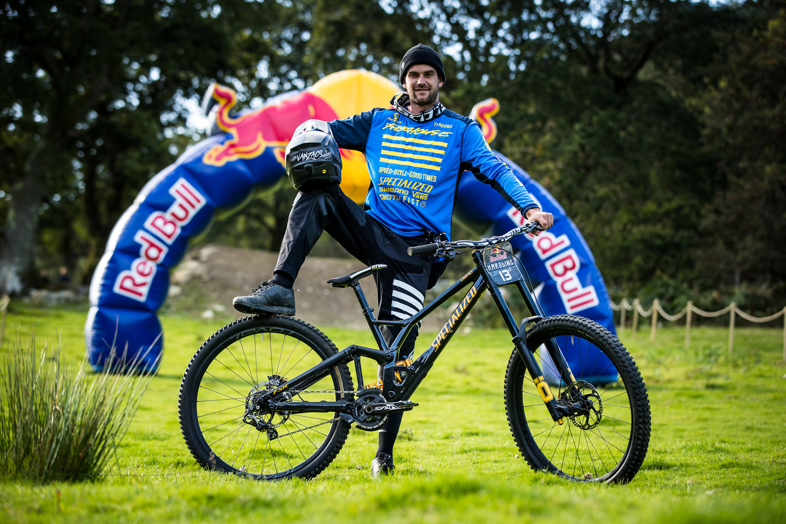 Dave McMillan with his Specialized Demo 29 - The Bikes of Red Bull Hardline - Mountain Biking Pictures - Vital MTB