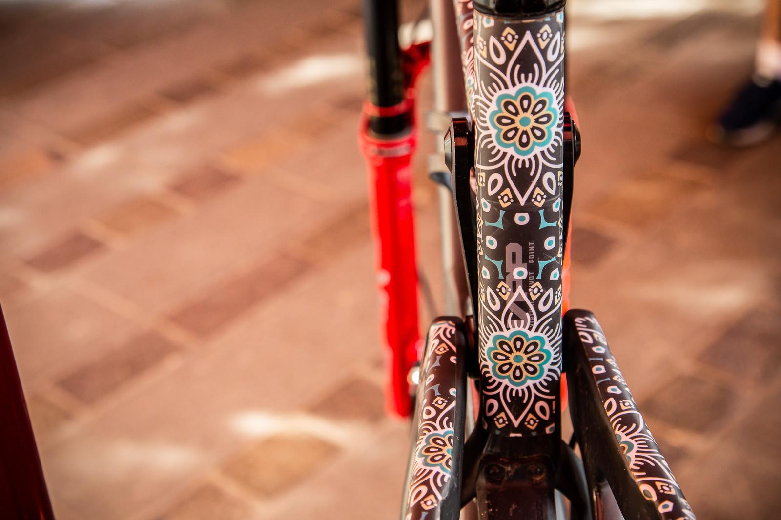 Iago Garay's 'Do You Even Drift Bro' frame protector - PIT BITS - Enduro Trophy of Nations - Mountain Biking Pictures - Vital MTB
