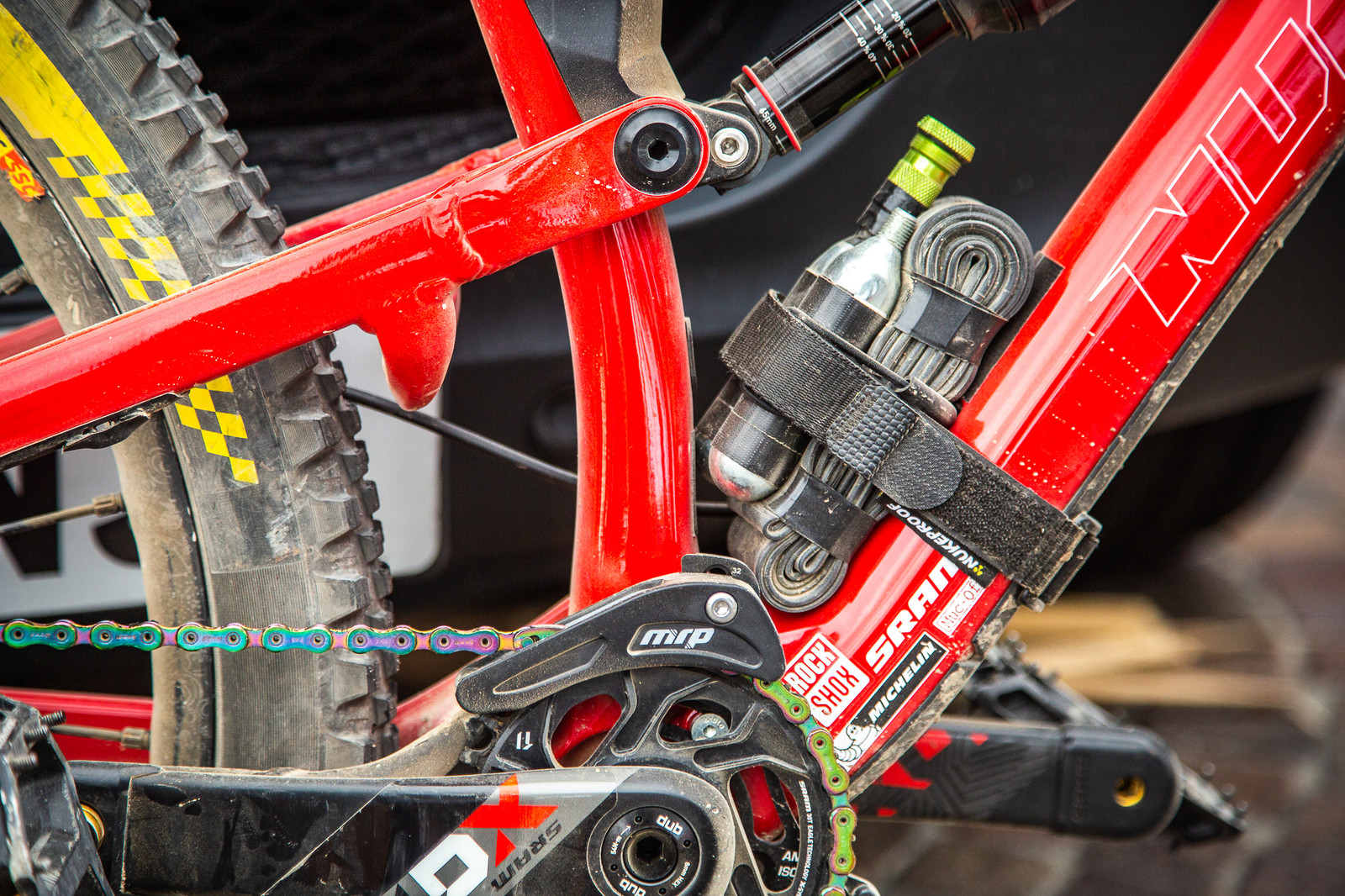 Sam Hill's Custom Trophy of Nations Nukeproof Mega - PIT BITS - Enduro Trophy of Nations - Mountain Biking Pictures - Vital MTB